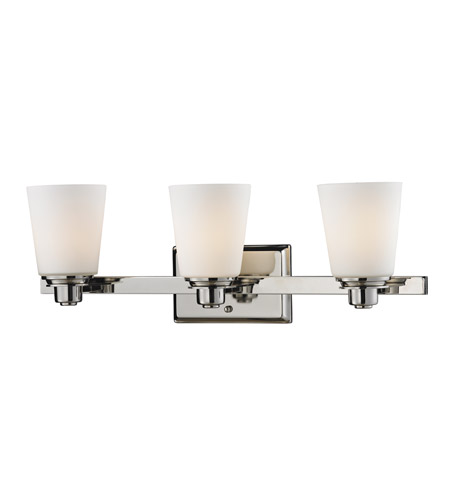 Z-Lite Nile 3 Light Vanity in Chrome/Matte Opal 2101-3V photo