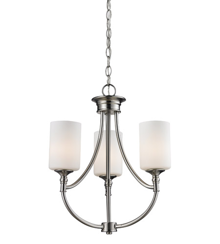 Z-Lite 2102-3 Cannondale 3 Light 17 inch Brushed Nickel Chandelier Ceiling Light photo