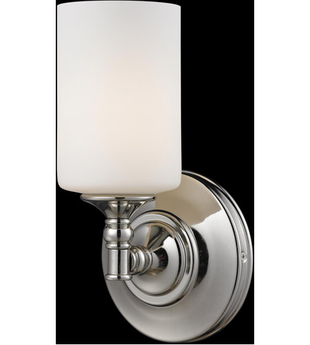 Z-Lite 2103-1S Cannondale 1 Light 6 inch Chrome/Matte Opal Wall Sconce Wall Light photo