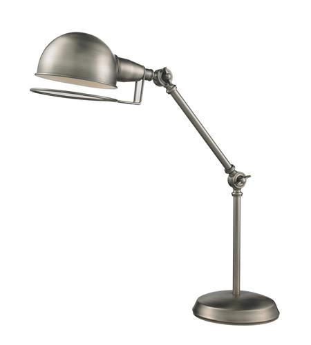 Z-Lite Stuart 1 Light Table Lamp in Antique Nickel 2106TL photo