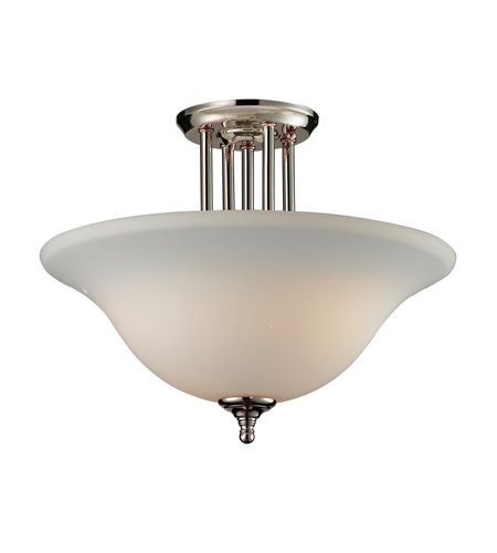 Z-Lite Athena 3 Light Semi Flush in Chrome 2108SF photo