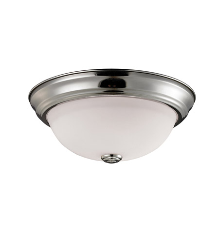 Z-Lite 2109F2 Athena 2 Light 13 inch Brushed Nickel Flush Mount Ceiling Light photo