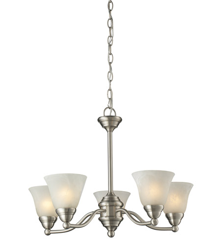 Z-Lite Athena 5 Light Chandelier in Brushed Nickel 2110-5 photo