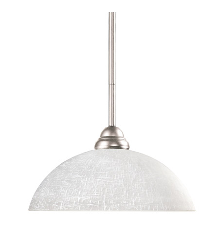 Z-Lite 2110MP-BN-DWL14 Riviera 1 Light 14 inch Brushed Nickel Billiard/Pendant Ceiling Light in White Linen Dome photo