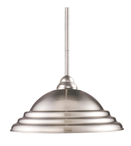 Z-Lite 2110MP-BN-SPT Riviera 1 Light 16 inch Brushed Nickel Billiard/Pendant Ceiling Light in Pewter Metal photo