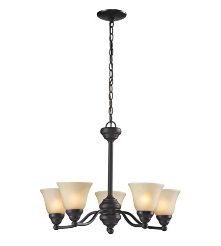 Z-Lite Athena 5 Light Chandelier in Bronze 2114-5 photo
