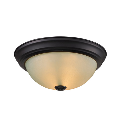 Z-Lite Athena 1 Light Flush Mount in Bronze 2114F1 photo