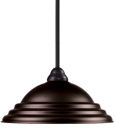 Z-Lite 2114MP-BRZ-SBRZ Riviera 1 Light 16 inch Bronze Pendant Ceiling Light in Stepped Bronze photo