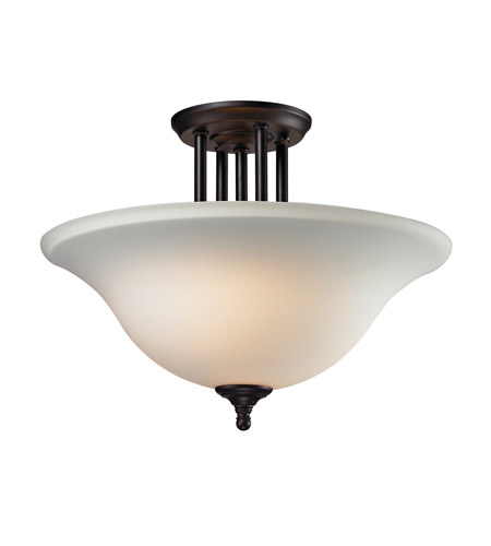 Z-Lite Athena 3 Light Semi Flush in Matte Black 2118SF photo