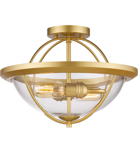 Z-Lite 3000SF-SG Persis 2 Light 15 inch Satin Gold Semi Flush Mount Ceiling Light photo