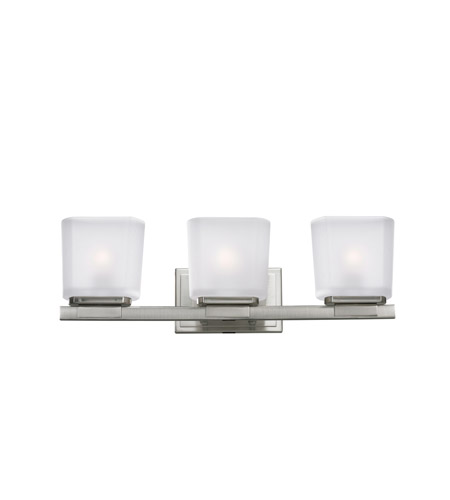 Z-Lite Agra 3 Light Vanity in Brushed Nickel 3002-3V photo