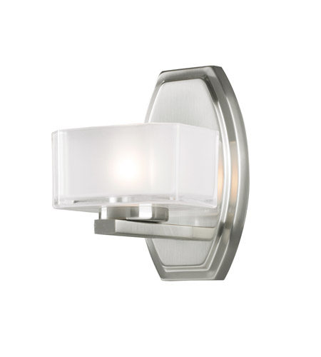 Z-Lite 3007-1V Cabro 1 Light 6 inch Brushed Nickel Vanity Light Wall Light photo
