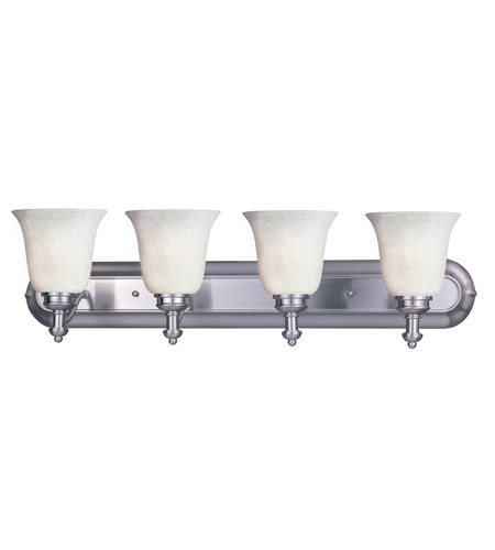 Z-Lite Hollywood 4 Light Vanity in Brushed Nickel 301-4V-BN-WM6 photo