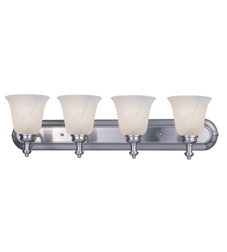 Z-Lite Hollywood 4 Light Vanity in Brushed Nickel 301-4V-BN photo