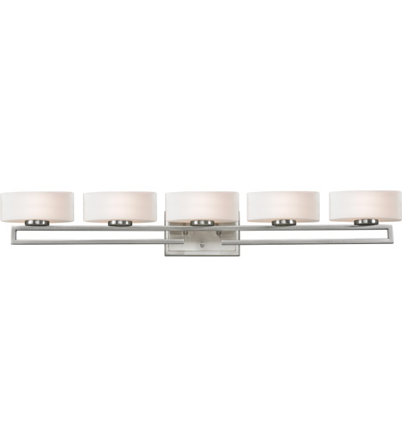 Z-Lite 3010-5V Cetynia 5 Light 41 inch Brushed Nickel Vanity Light Wall Light in G9 photo