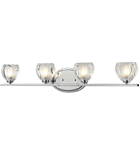 Z-Lite 3023-4V Hale 4 Light 29 inch Chrome Vanity Wall Light in G9 photo