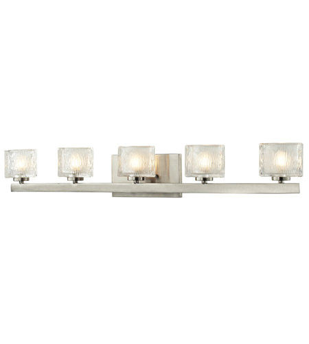 36 Vanity Light Brushed Nickel : Z-Lite 3027-5V Rai 5 Light 36 inch Brushed Nickel Vanity Light Wall Light in G9