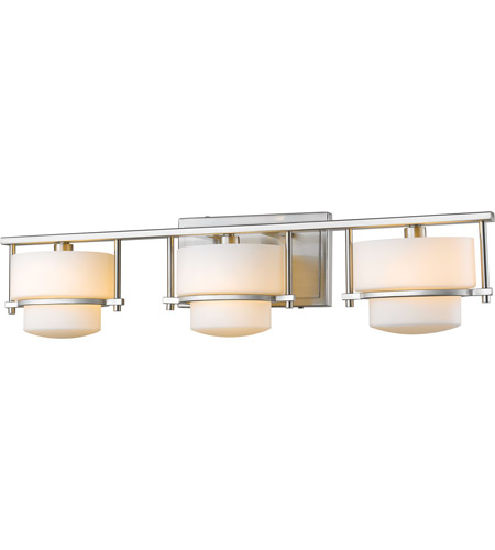 Brushed Nickel Porter Bathroom Vanity Lights