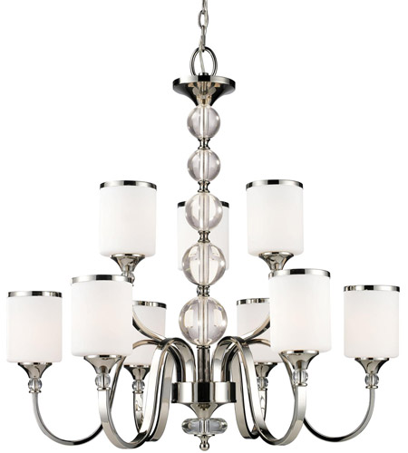Z-Lite 307-9-CH Cosmopolitan 9 Light 31 inch Chrome Chandelier Ceiling Light photo