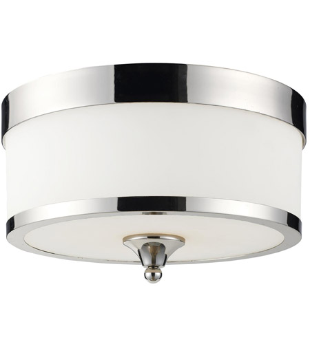 Z-Lite 307F-CH Cosmopolitan 3 Light 13 inch Chrome Flush Mount Ceiling Light photo