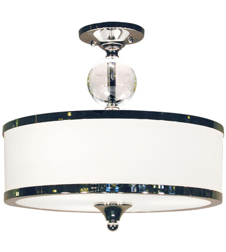 Z-Lite 307SF-CH Cosmopolitan 3 Light 16 inch Chrome Semi Flush Mount Ceiling Light photo