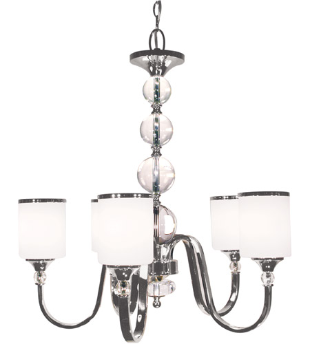 Z-Lite 308-5-BN Cosmopolitan 5 Light 25 inch Brushed Nickel Chandelier Ceiling Light photo