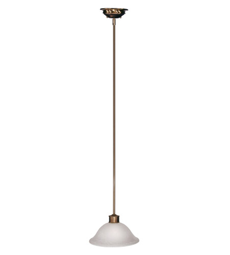 Z-Lite Dynasty 1 Light Pendant in Burnished Nickel/Chocolate 309-12P photo