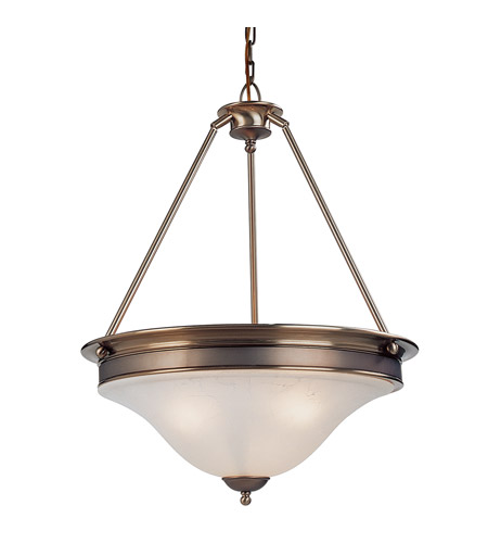 Z-Lite Dynasty 3 Light Pendant in Burnished Nickel/Chocolate 309P photo