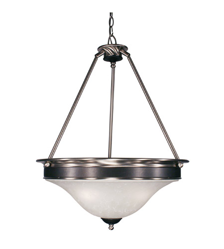Z-Lite Dynasty 3 Light Pendant in Satin Nickel/Black 310P photo