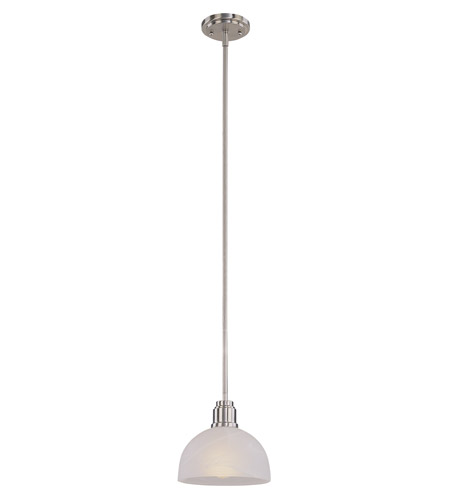 Z-Lite Chelsey 1 Light Mini Pendant in Brushed Nickel 314MP-BN photo