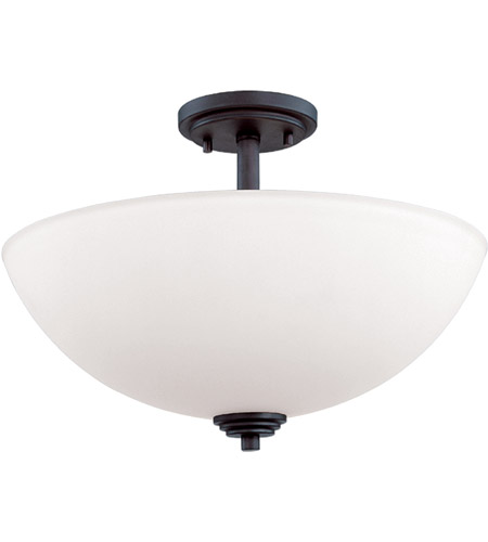 Z-Lite 314SF-BRZ Chelsey 3 Light 16 inch Bronze Semi Flush Mount Ceiling Light photo