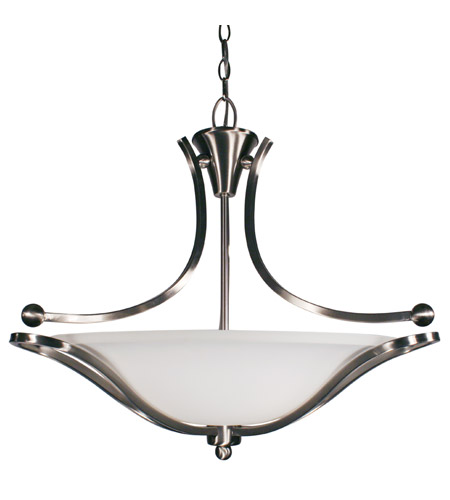 Z-Lite Carlisle 3 Light Bowl Pendant in Brushed Nickel 316P-24 photo
