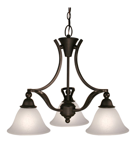 Z-Lite Carlisle 3 Light Chandelier in Bronze 317-3 photo