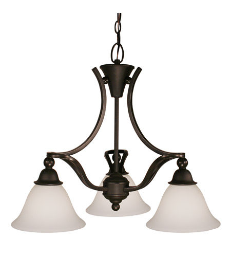 Z-Lite Carlisle 3 Light Chandelier in Bronze 318-3 photo
