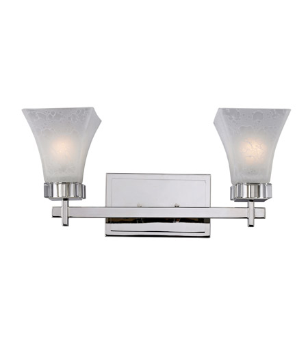 Z-Lite Pershing 2 Light Vanity in Polished Nickel with White Watermark Glass 319-2V photo