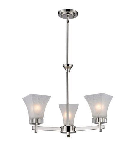Z-Lite 319-3 Pershing 3 Light 17 inch Polished Nickel Chandelier Ceiling Light photo