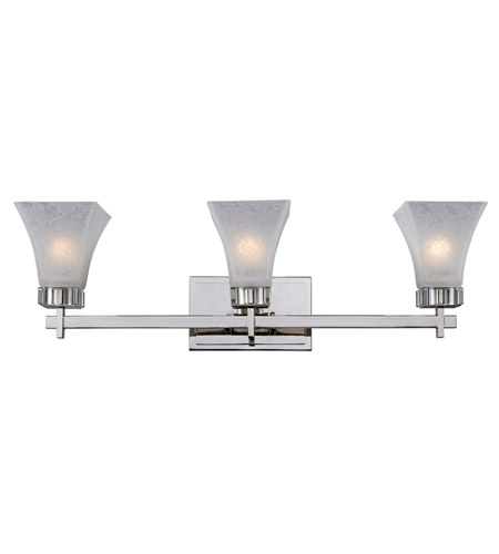 Z-Lite Pershing 3 Light Vanity in Polished Nickel with White Watermark Glass 319-3V photo