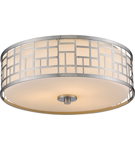 Z Lite 330F16 BN Elea 3 Light 16 Inch Brushed Nickel Flush Mount Ceiling  Light