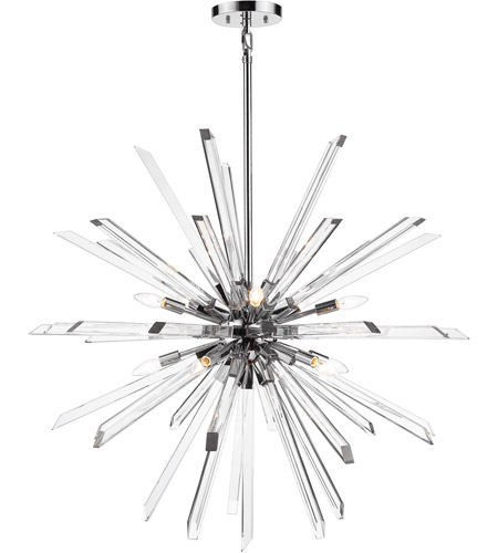 Z-Lite Iron Burst Chandeliers