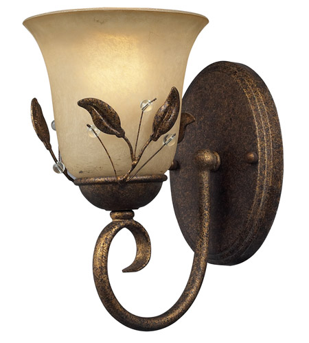 Z-Lite Coventry 1 Light Wall Sconce in Antique Gold 403-1S photo