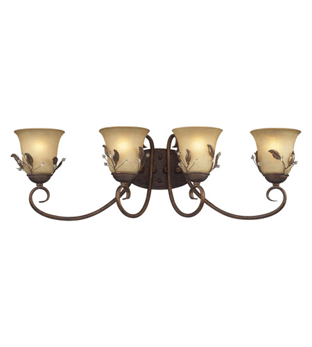 Z-Lite Coventry 4 Light Vanity in Antique Gold 403-4V photo