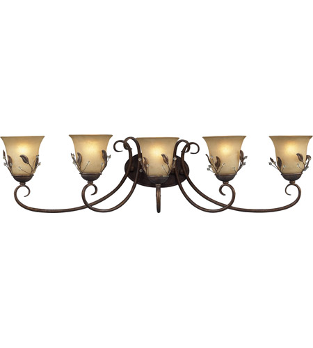 Z-Lite Coventry 5 Light Vanity in Antique Gold 403-5V photo