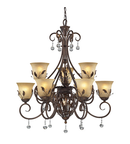 Z-Lite Coventry 10 Light Chandelier in Antique Gold 403-9 photo