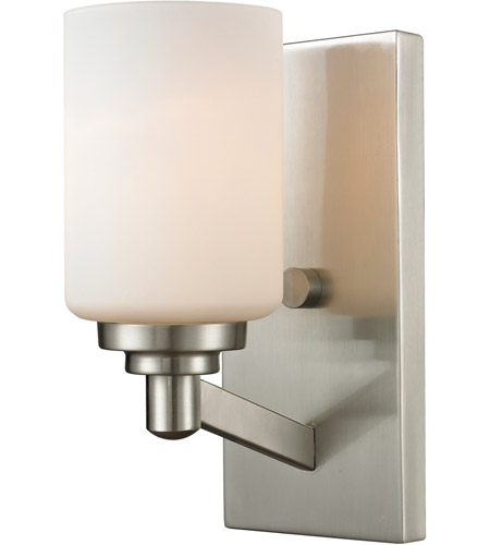 Z Lite 410 1S Montego 1 Light 5 Inch Brushed Nickel Wall Sconce