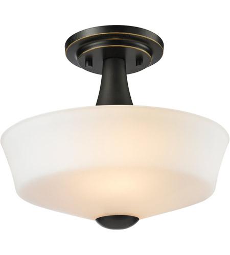 Z Lite 411sf2 Montego 2 Light 12 Inch Coppery Bronze Semi Flush Mount Ceiling Light
