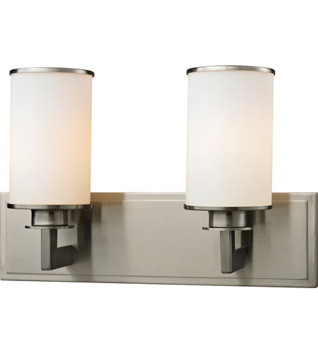 Z lite savannah 2 light vanity in brushed nickel 412 2v for Z gallerie bathroom lights