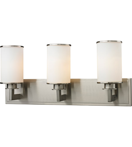 Z-Lite 412-3V Savannah 3 Light 23 inch Brushed Nickel Vanity Wall Light photo