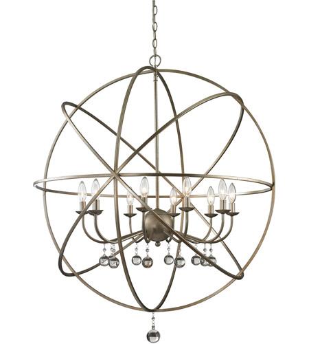 Z Lite 415 36 Acadia 10 Light Inch Antique Silver Pendant Ceiling