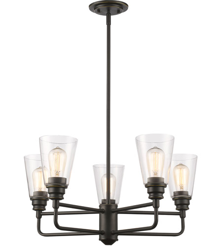 Z-Lite 428-5-OB Annora 5 Light 25 inch Olde Bronze Chandelier Ceiling Light photo