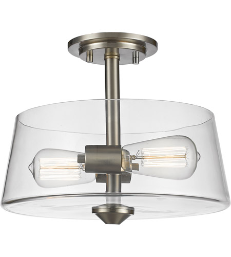 Z-Lite 428SF2-BN Annora 2 Light 12 inch Brushed Nickel Semi Flush Mount Ceiling Light photo